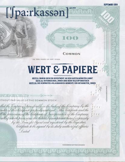 Ausgabe #4/2019 • Wert & Papiere